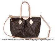 Sell Louis Vuitton Monogram Canva Palermo PM Brown Handbags Free shipp