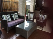 RATTAN OUTDOOR LOUNGE SETTING & COFFEE TABLE- Mardi Central Coast