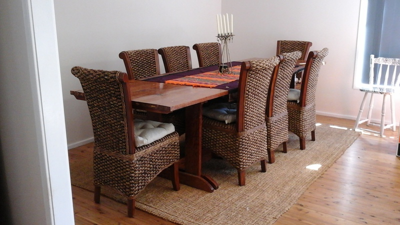 10ft handmade solid wood dining table and 8 balinese for 10 ft dining table sale