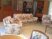 3 piece Moran lounge suite, Floral design, One 3 seater, 2 single chairs.