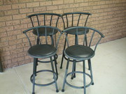 Bar Stools - Retro - Swivel - Set of 4