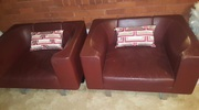 Set of Two Luxury Leather Armchairs