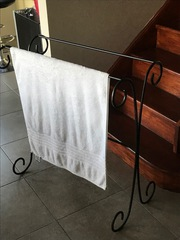 Towel Rail - black wrought iron